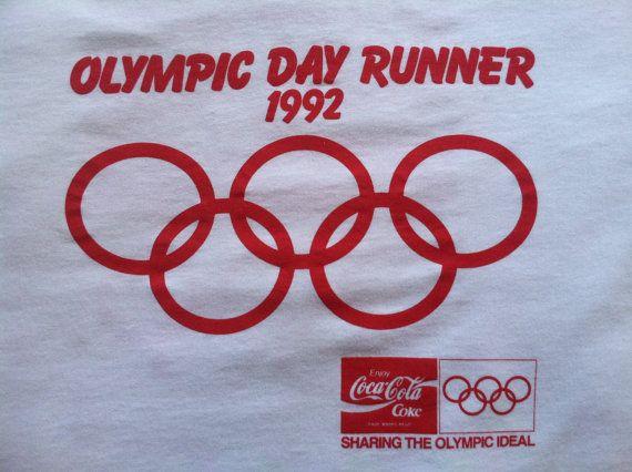 OLYMPICS COCA COLA Tshirt Vintage/ Day Runner by sweetVTGtshirt, $20.00