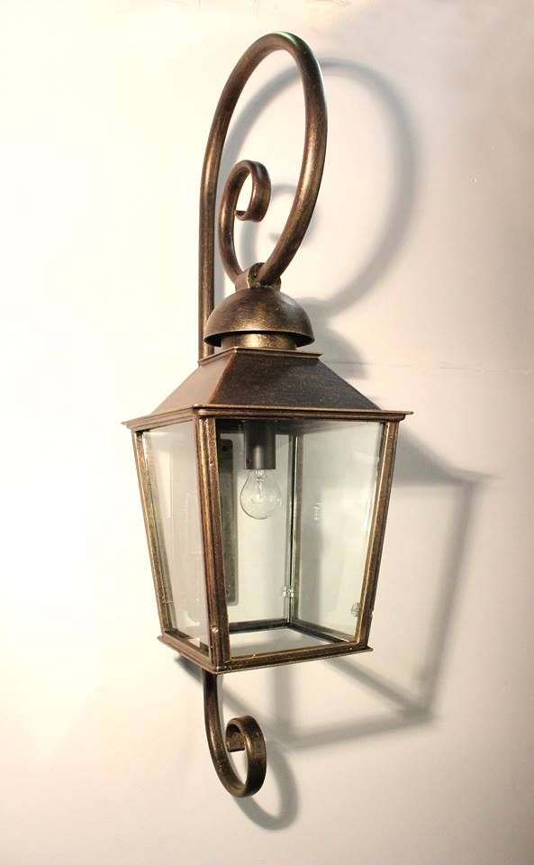 The Lavignon Bell lantern with French curl detail. There are three size options available, as well as a large of colour finishes to choose from.