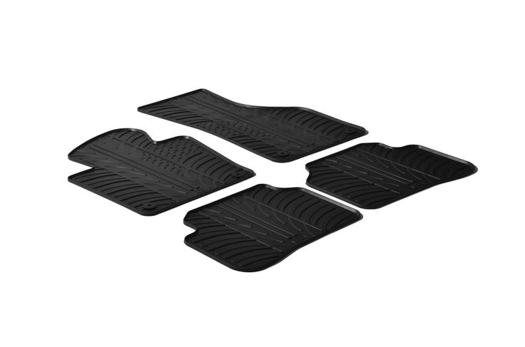 Gledring 2010-2015 Volkswagen Passat Custom Fit All Weather Floor Mats - Protect your car floor carpet with these custom molded rubber floor mats. This 4 piece set will cover the floor area for the front and rear seats. The rubber material will hold the floor mats in place. These mats also have holes for the factory floor anchors for an even more secure fitting. There is no trimming needed. Just set them in place and secure the front floor mat anchors in place. These heavy duty mats are…