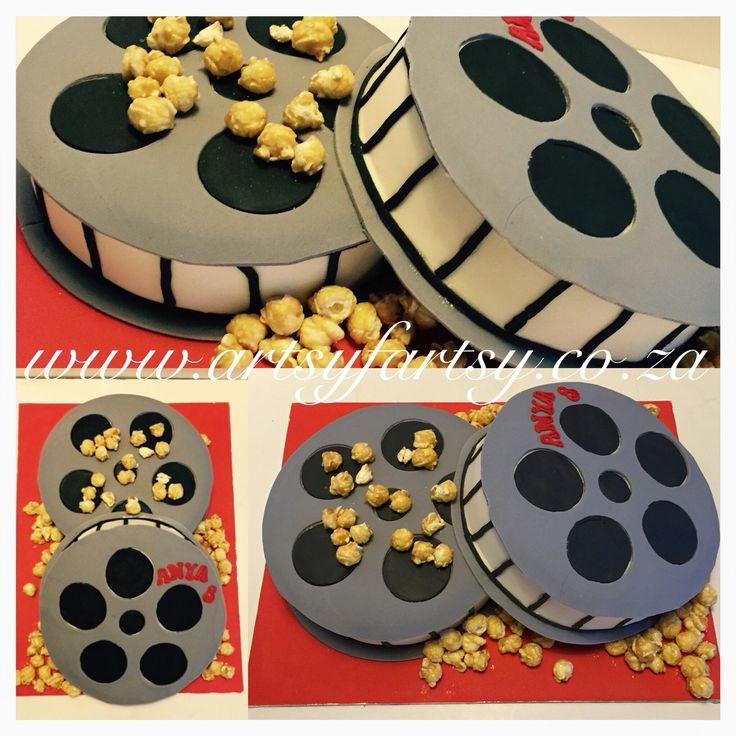 Movie Reel Cake #moviereelcake