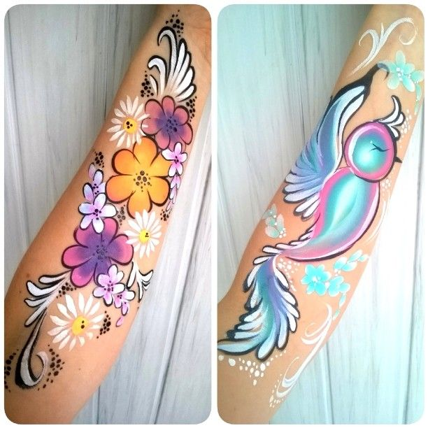 #makeup #makeupart #armdesign #facepainting #bodypainting #art #fxdiamond #onestroke #flowers #flowerdesign #bodypaint #cute #bird #instaart #