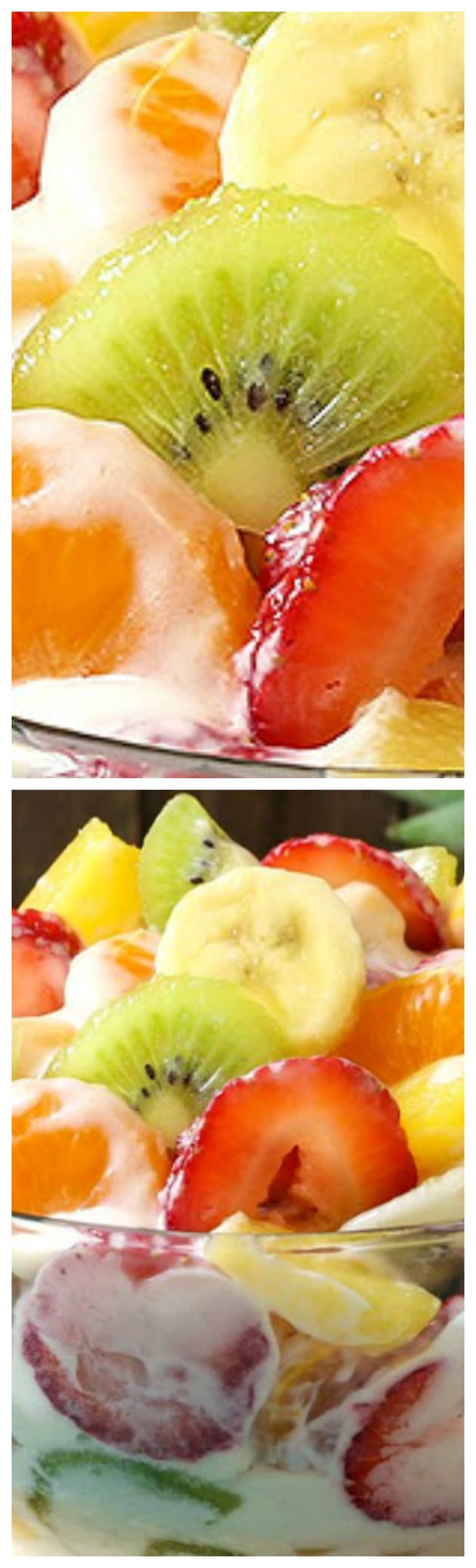 Hawaiian Cheesecake Salad ~ So simply with fresh tropical fruit and a rich and creamy cheesecake filling to create the most glorious fruit salad ever... Every bite is absolutely bursting with island flavor and you are going to go nuts over this recipe!