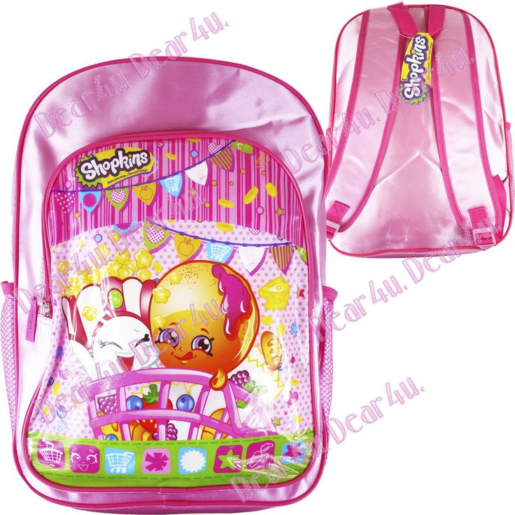 Shopkins Kid s Girl s school bag picnic preschool bag large backpack new xmas