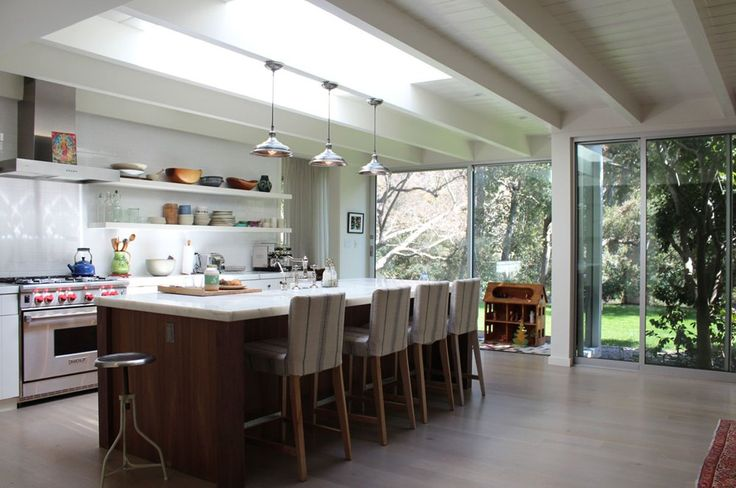 Breezy White Open Kitchen, open, good hang out, love the floor
