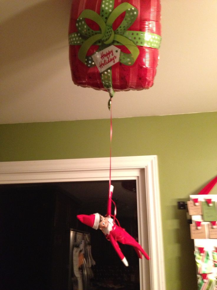 17 best images about elf on a shelf on pinterest monster for Elf on the shelf balloon ride