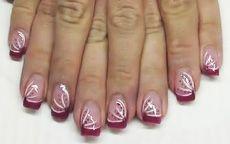 Tutorial Nail Art – Rosa con strisce bianche e pois - Tentazione Unghie