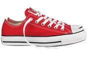 Rode Converse sneakers All Star OX gympen