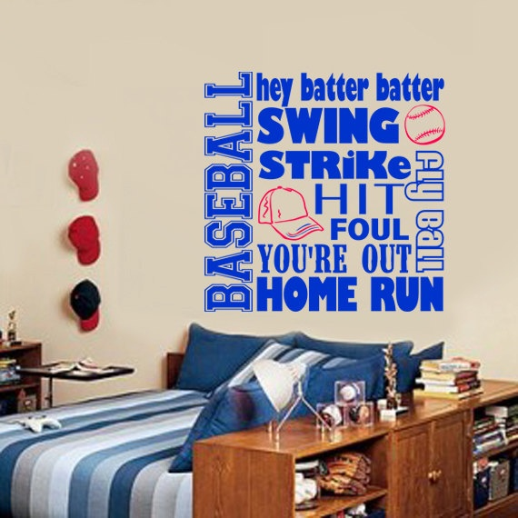 Subway Baseball Vinyl Wall Decal Art Boys By PlayOnWalls
