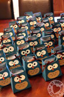 Owl Party Favor Bags