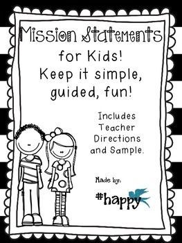 This file will help you to guide your students in writing their personal mission statements.  This is a great tool to use along with the Leader in Me 7 Habits of Happy Kids!  This file also includes teacher directions on how I have done this activity with my own students, as well as a sample of what I finished product might look like. happiness habits #happy #positivity