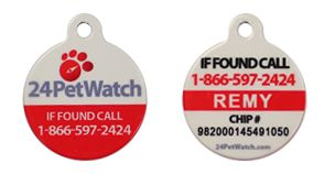 24petwatch microchip id   bringing your lost pet home
