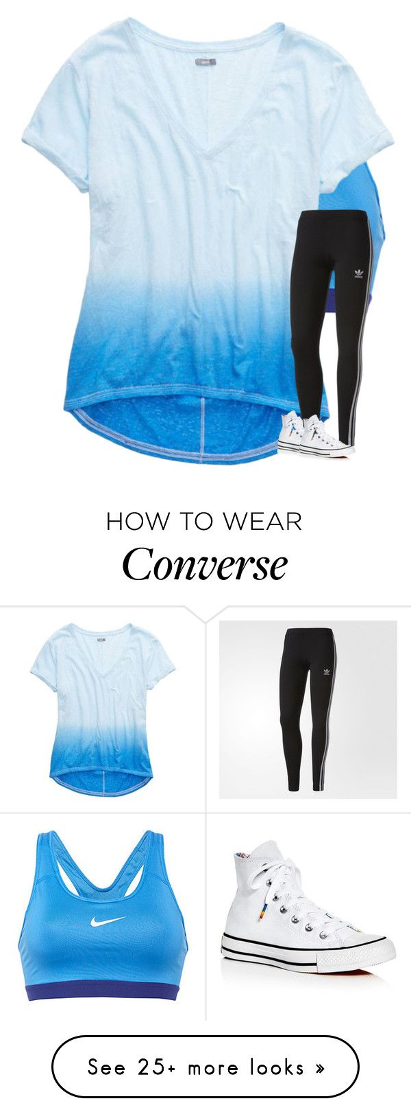 """""""Untitled #3390"""" by laurenatria11 on Polyvore featuring NIKE, American Eagle Outfitters, adidas and Converse"""