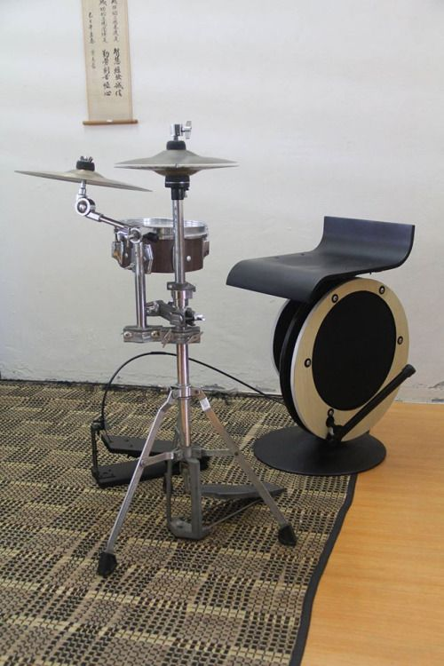Peter Lau's Bass-throne Mini drum kit