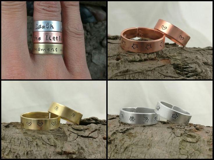 Metal stamping rings