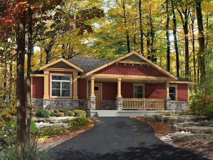 Cottonwood model by beaver homes and cottages includes for Home hardware cottage packages