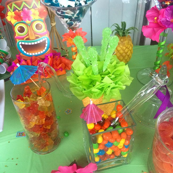 Hawaiian candy table, luau candy table, candy buffet, candy table