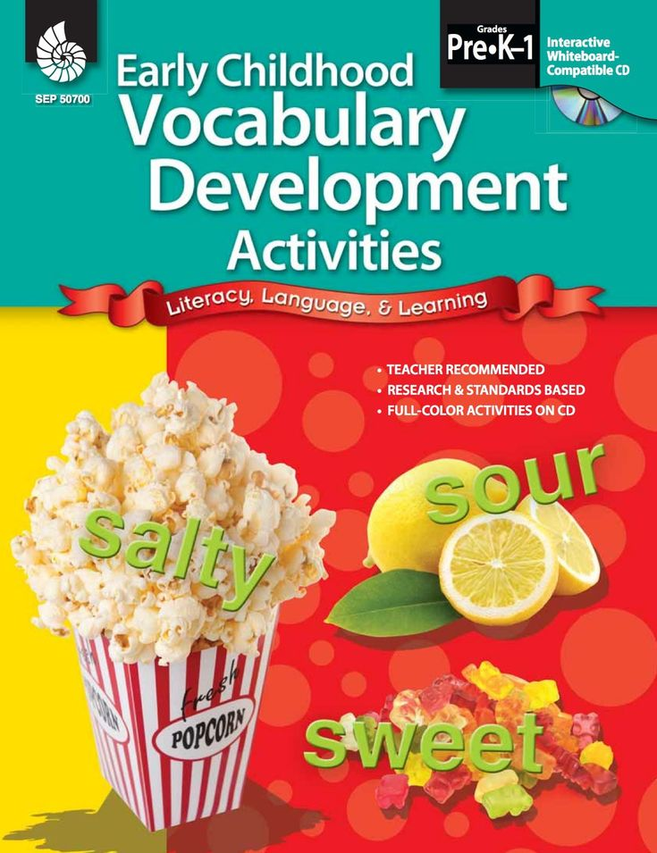 Early Childhood Vocabulary Development Activities (eBook)