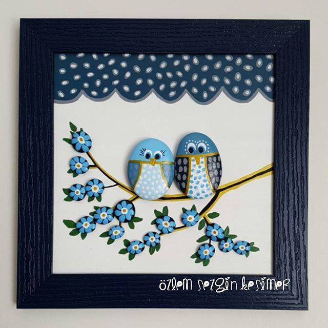 Bereket bolluk hepimizin olsun. #hıdırellez #tasboyamasanati #tastasarim #stonepainting #stoneart #sevimlihayvanlar #baykuş #animals #asiklar #sevgili #karasevda #mutluluk #elemegi #elsanatları #kisiyeozelhediye #gift #mavi #evimevimgüzelevim #dekorasyon #homedecor #taştablo #satilik