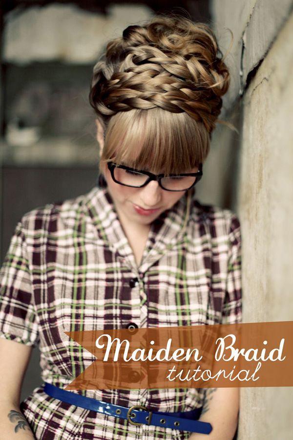 ...Hair Ideas, Braids Hairstyles, Hair Tutorials, Long Hair, Beautiful, Longer Hair, Bangs, Hair Style, Maiden Braids