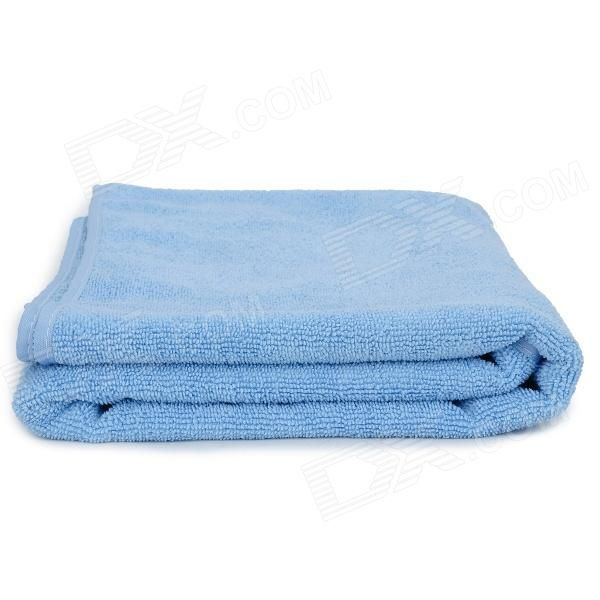Soft Microfiber Shoulder-Straps Bath Towel Beach Cloth - Blue