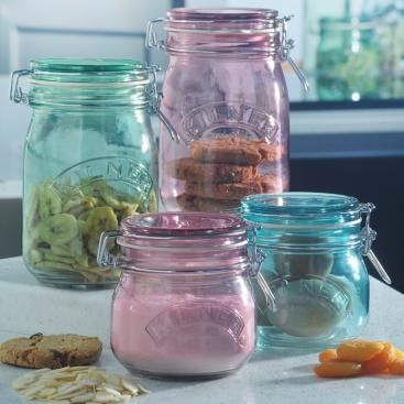Coloured 500ml Kilner Jars