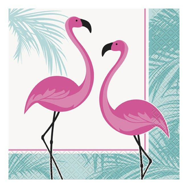 Köp Servetter Rosa Flamingo hos Partytajm