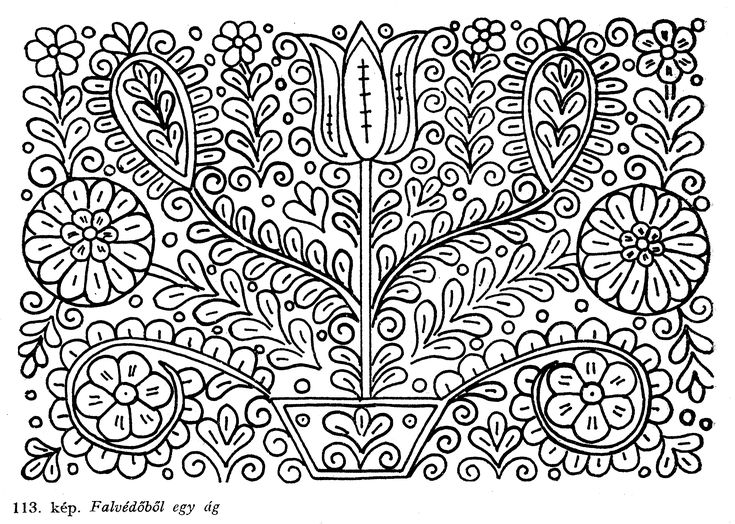 Hungarian(Kalotaszegi) Flowers embroidery patterns:)