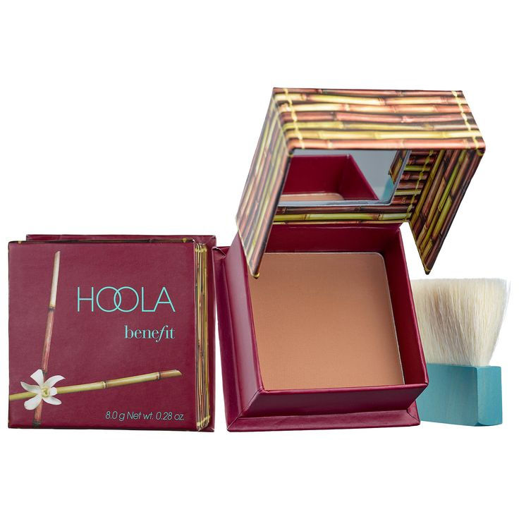 Shop Benefit Cosmetics' Hoola Matte Bronzer at Sephora. It imparts a natural-looking tan that flatters any skin tone.