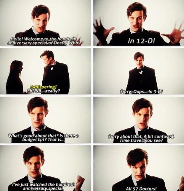 Cinema introduction to The Day of the Doctor. 50th Anniversary <3
