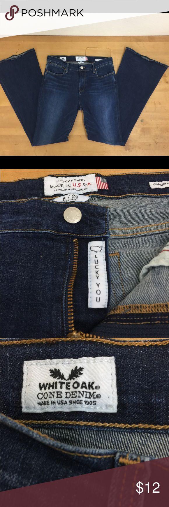 "Lucky Brand women's Jeans #10173 Dark blue, great condition. Lucky brand Jeans. 32"" Inseam. Lucky Brand Jeans Boot Cut"