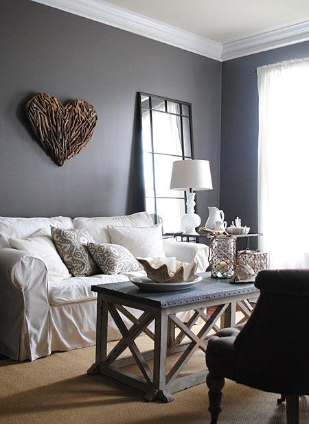 sala de estar cinza