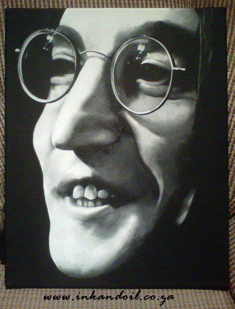 John Lennon Portrait Painting  Acrylic on canvas