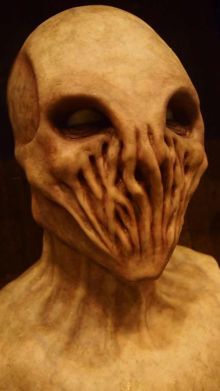 An Alien silicone mask from Shattered FX at the St. Louis Transworld Halloween and Haunt Convention 2014.