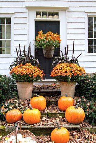 A Warm Welcome - fall porch