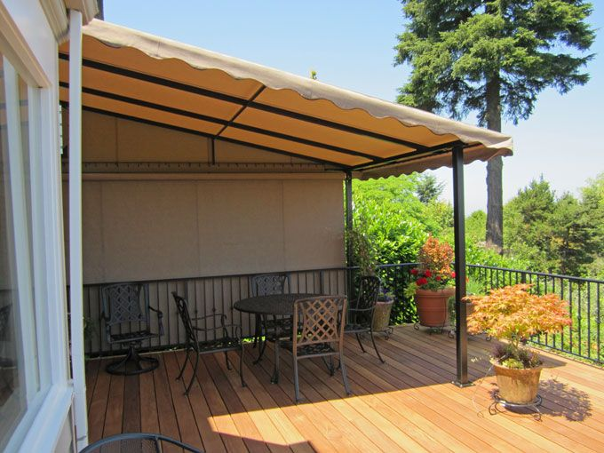 tent awnings decks fixed deck canopy retractable side curtain over for edmonton halifax
