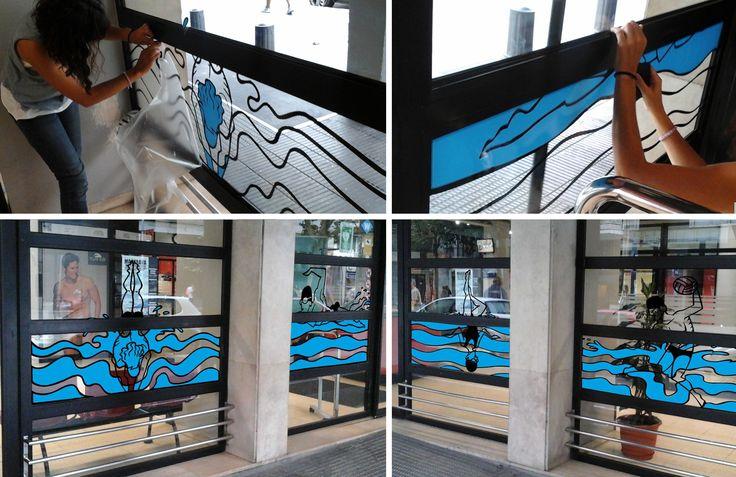 Y este es el resultado del vinilo que pusimos el sábado en las instalaciones de la Piscina Sant Jordi. de Barcelona. Diseñado exclusivamente por nuestro super ilustrador Iñaki Espi. http://ubikavinilo.com/ #ubikavinilo #vinilodecorativo #barcelona #piscina