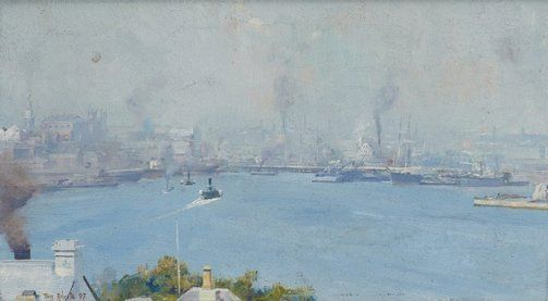 Sydney Harbour from Milson's Point - Tom Roberts