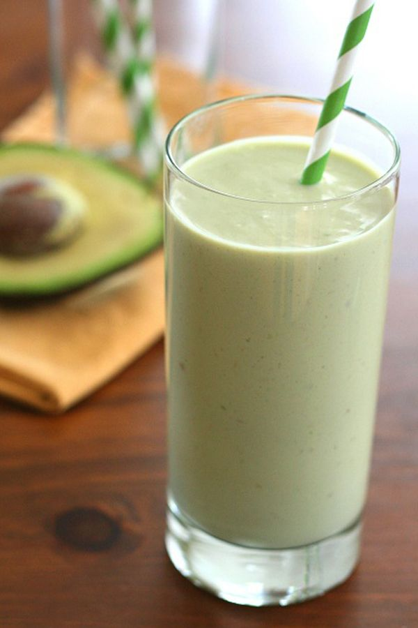 Avocado Green Tea Power Shake- Low Carb And Gluten-Free - (A low carb avocado green tea smoothie, packed with protein and anti-oxidants. The ultimate post-workout recovery drink! Sugar-free.)