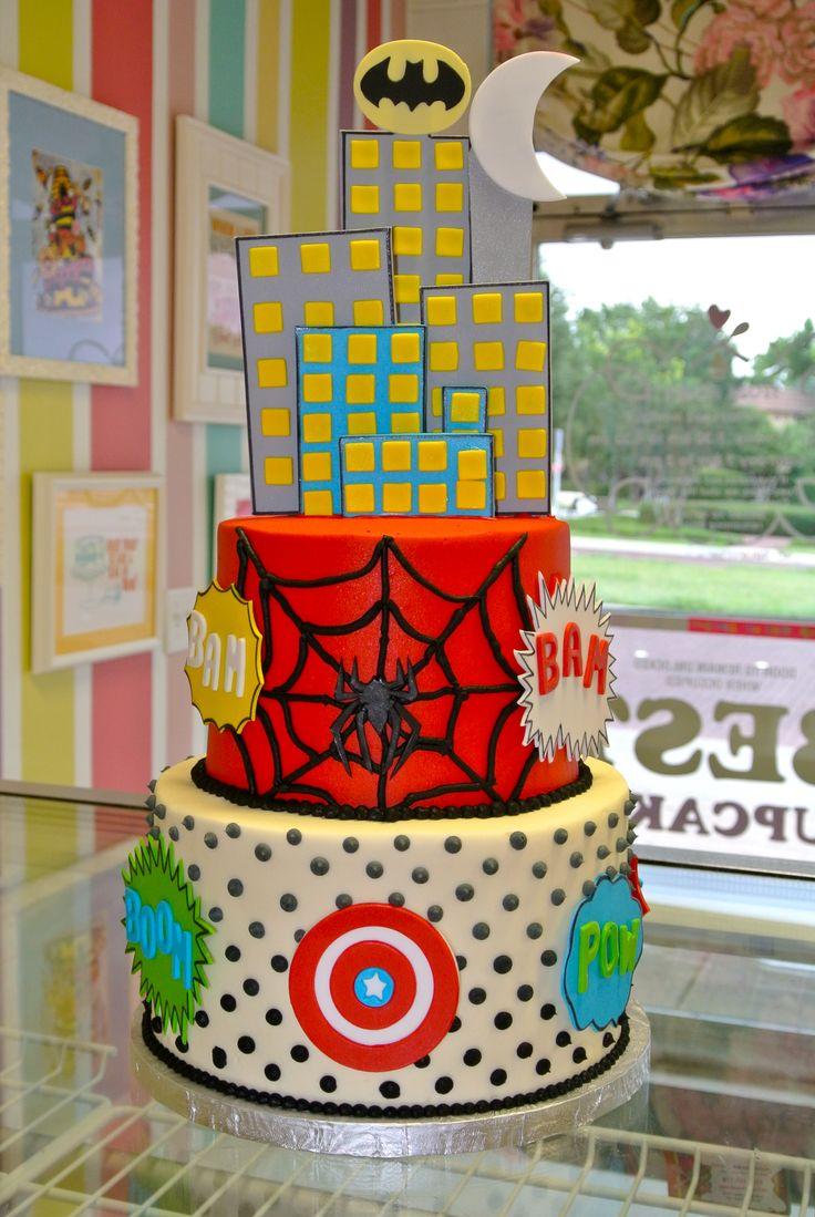Super Hero Comic Book Pop Art Cake Www Leahssweettreats
