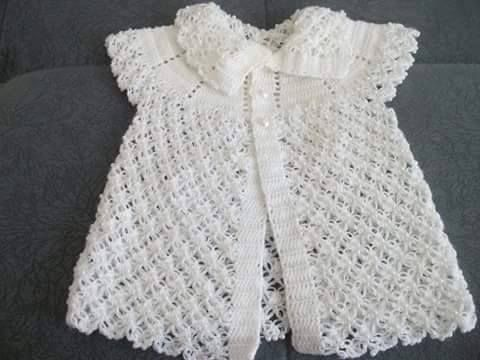 Beyaz berdolu örgü kız çocuk yelek | Örgü Modelleri - Örgü Dantel Modelleri