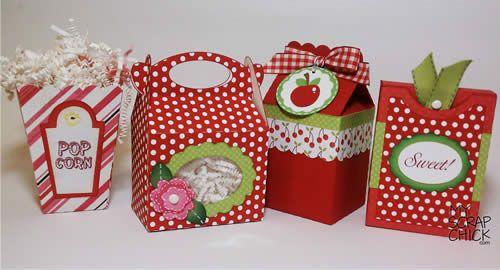 4 new treat boxes, Gable, Popcorn, Milk Carton and Crayon Box from myscrapchick.com