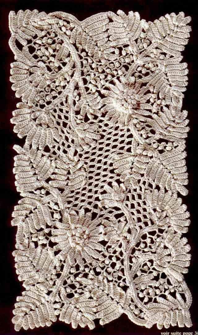 ergahandmade: Irish Crochet Doily + Diagrams