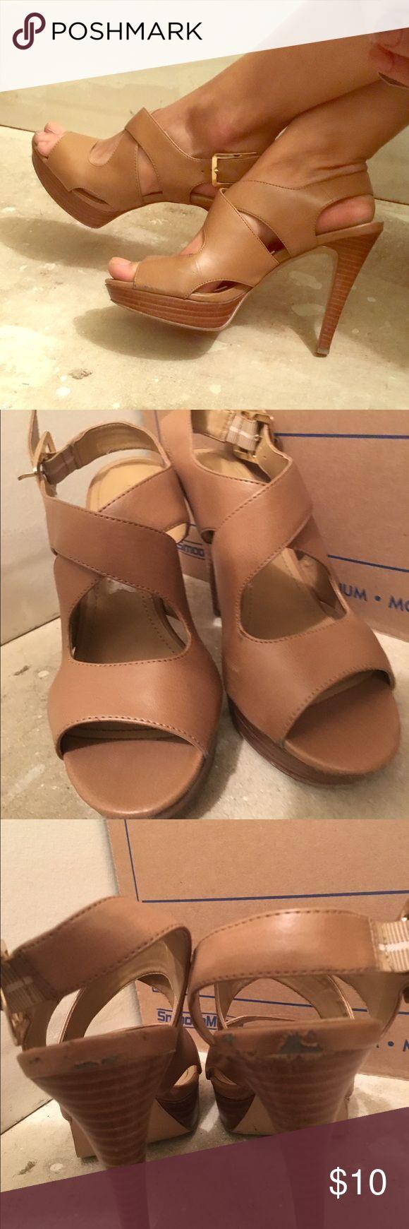 Nine West beige sandals Nine West beige sandal heels Nine West Shoes Heels