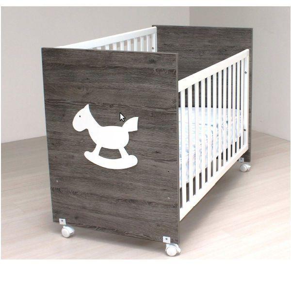 Cuna de bebe de madera Blasi Bed Caballito gris oscuro [900 CABALLO G. OSCURO] | 149,00€ : La tienda online para tu peke | tienda bebe pekebuba.com #cuna, #cunas, #cunamoderna, #cunabebe, #cunabonita