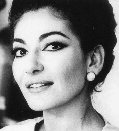 the real Maria Callas - can see why Zefirelli chose Fanny Ardant, there is a resemblance