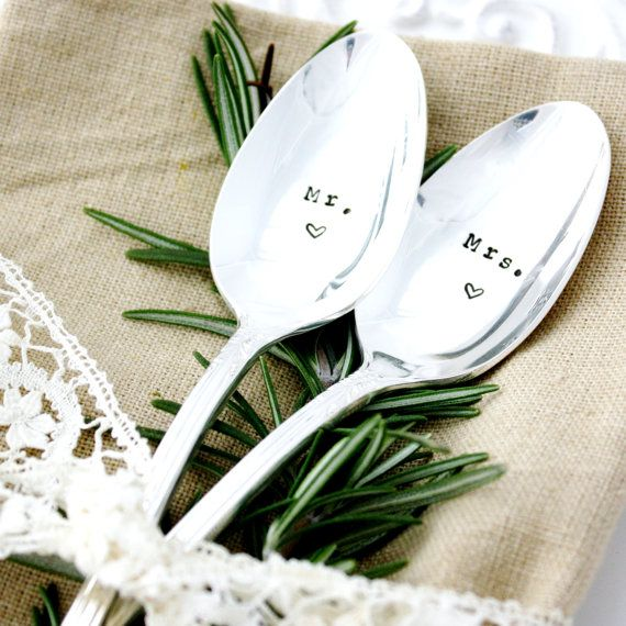 wedding silverware mr and mrs table by milkandhoneyluxuries 2500