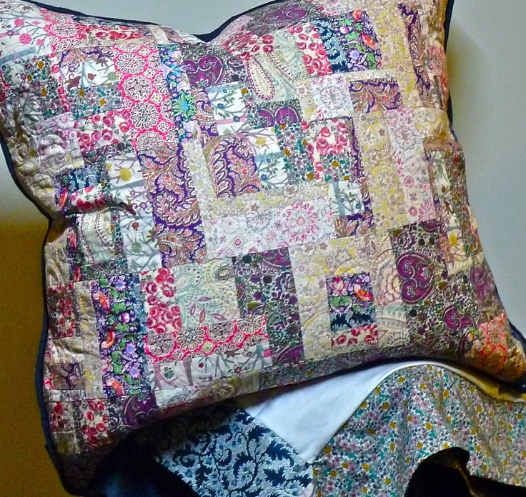 Liberty Pillow with Sateen Backing and Piping