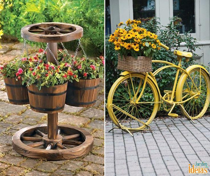 Objetos de decoração para o jardim