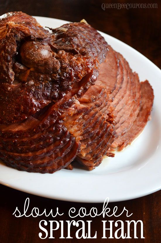 Crockpot Slow Cooker Spiral Ham with pineapple