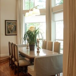Draperies For Dining Room With Multiple Windows